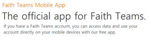 Faith Teams Free Mobile App