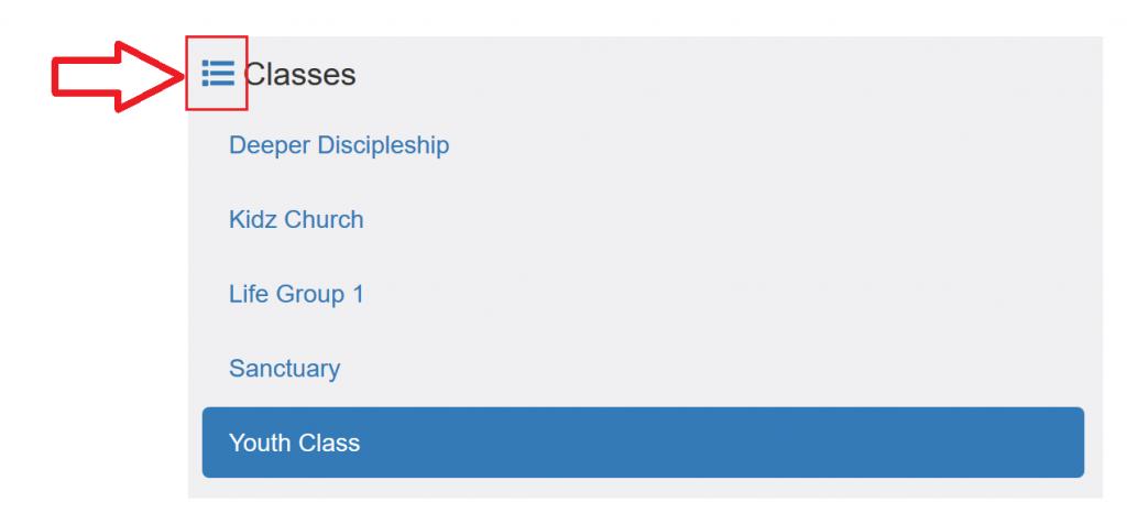 Church Check-in - Class Setup